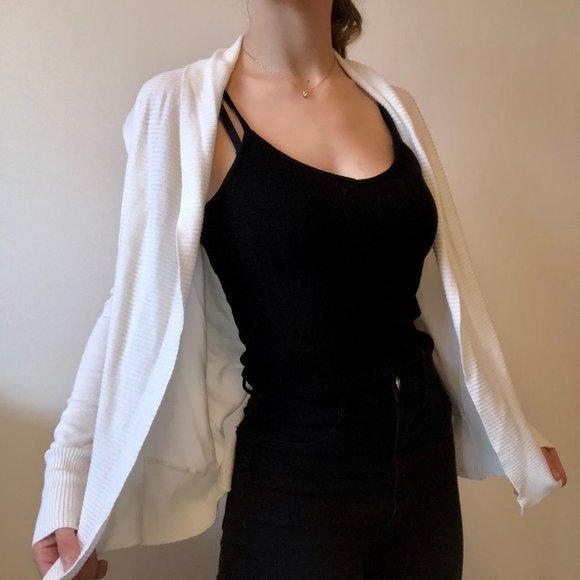 Thin white Cardigan sweater